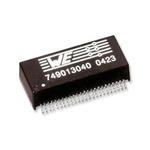 Surface Mount Lan Ethernet Transformer, 12.7 x 8.8mm, 0 → +70 °C