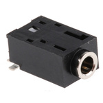Lumberg 2.5 mm Surface Mount Stereo Jack Socket, 3Pole 500mA