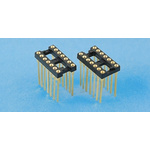E-TEC 2.54mm Pitch Vertical 8 Way, Through Hole Turned Pin Open Frame IC Dip Socket