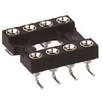 Preci-Dip 2.54mm Pitch Vertical 8 Way, SMT Turned Pin Open Frame IC Dip Socket, 1A