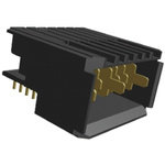 TE Connectivity, Z-PACK 2mm Pitch Backplane Connector, Right Angle, 1 Row, 7 Way