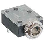 Lumberg 3.5 mm PCB Mount Stereo Jack Socket, 3Pole 1A