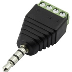 CIE, CLB-JL Cable Mount Plug Adapter Jack Plug, 4Pole 5A