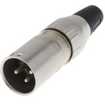 Deltron Cable Mount XLR Connector, Male, 50 V ac, 3 Way, Silver Plating
