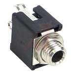Switchcraft 3.5 mm Chassis Mount Stereo Jack Socket, 3Pole 250mA