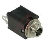 Switchcraft, Hi-D-Jax 6.35 mm Chassis Mount Stereo Jack Socket, 3Pole 3A