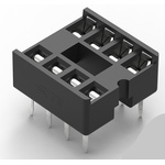TE Connectivity 2.54mm Pitch Vertical 8 Way, Through Hole Standard Pin Ladder IC Dip Socket, 1A