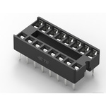 TE Connectivity 2.54mm Pitch Vertical 16 Way, Through Hole Standard Pin Ladder IC Dip Socket, 1A