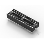 TE Connectivity 2.54mm Pitch Straight 24 Way, Through Hole Ladder IC Dip Socket, 1A