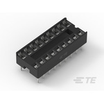 TE Connectivity 2.54mm Pitch Straight 18 Way, Through Hole Ladder IC Dip Socket, 1A