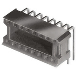 Aries Electronics, Vertisocket 2.54mm Pitch Right Angle 10 Way, Through Hole Closed Frame IC Dip Socket, 1.5A