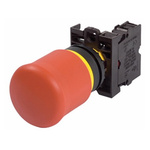 Eaton Panel Mount Emergency Button - Pull to Reset, 22.5mm Cutout Diameter, 2NC, Round Head