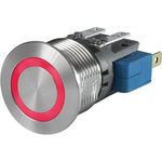 Push Button Touch Switch, Momentary ,Illuminated, Red, IP40, IP67 Ag