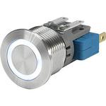 Push Button Touch Switch, Momentary ,Illuminated, White, IP40, IP67 Au