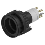 Modular Switch Actuator, IP67, Black, Panel Mount, Momentary for use with Series 14 Switches -25°C +55°C