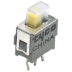 PCB Slide Switch Single Pole Double Throw (SPDT) Latching 400 mA @ 20 V Top