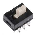Surface Mount Slide Switch Double Pole Double Throw (DPDT) 250 mA @ 125 V ac Top