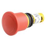 Eaton Panel Mount Emergency Button - Twist to Reset, 22.5mm Cutout Diameter, 2NC, Mushroom Head