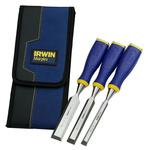 Irwin 3 Piece Steel Wood Chisel Set, 1.0 in, 1/2 in, 3/4 in Blade Width