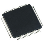 Analog Devices AD7616BSTZ Data Acquisition IC, 16 (ADC) bit, 1Msps, 120μs, 80-Pin LQFP