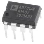 AD781JNZ, Sample & Hold Circuit, 0.7μs Dual Power Supply, 8-Pin PDIP