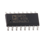 SMP04ESZ, Sample & Hold Circuit, 11μs 4-Channel Dual, Single Power Supply, 16-Pin SOIC