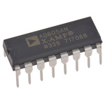 AD605ANZ Analog Devices, Dual Controlled Voltage Amplifier Single Ended 4.5 → 5.5 V 16-Pin PDIP