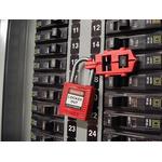 Brady 7mm Shackle Circuit Breaker Lockout- Red