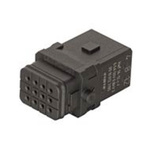 HARTING Han 1A Heavy Duty Power Connector Insert, 12 contacts, 6.5A, Male