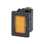 Amber neon indicator, 240V, black body,1