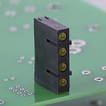 Bivar H455CBC, Green & Red Right Angle PCB LED Indicator, 4 LEDs 3mm (T-1), PCB Mount