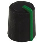 Sifam Potentiometer Knob, Push-On Type, 11mm Knob Diameter, Black, D Shaped Shaft Type, 6mm Shaft