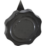 Ohmite Pointer Knob, Pointer Knob Type, 60.3mm Knob Diameter, Black, 6.35mm Shaft, For Use With 6.35mm Shafts
