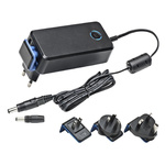 Mascot, 28W AC DC Adapter 24V dc, 1.16A, 1 Output Power Adapter, 2 Pin IEC 320 C8, Australia, European Plug, UK, US