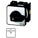 Eaton, DPST 3 Position 45° Changeover Switch, 690 V ac, 20 A, Rotary Knob Actuator