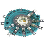 NSF, 6 Position DP6T Rotary Switch, 150 mA @ 250 V ac, Solder