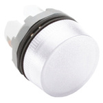 ABB White Pilot Light Head, 22mm Cutout ABB Modular Series