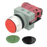 Idec Black, Green, Red Round, 22mm Momentary Screw