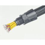 Adaptaflex M32 90° Elbow Cable Conduit Fitting, Black 34mm nominal size