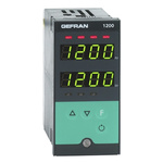 Gefran 1200 PID Temperature Controller, 96 x 48 (1/8 DIN)mm, 3 Output Relay, 100 V ac, 240 V ac Supply Voltage ON/OFF