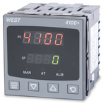West Instruments P4100 PID Temperature Controller, 96 x 96 (1/4 DIN)mm, 1 Output Relay, 100 V ac, 240 V ac Supply