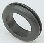 Legrand Black PVC 11mm Round Cable Grommet for Maximum of 7 mm Cable Dia.