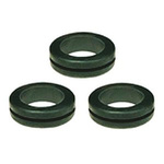 SES Sterling Black PVC 14mm Round Cable Grommet for Maximum of 9 mm Cable Dia.