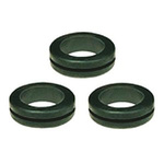 SES Sterling Black PVC 22mm Round Cable Grommet for Maximum of 14 mm Cable Dia.