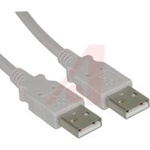 cable assembly,universal serial bus version 2.0,usb a plug to usb a plug,6 feet