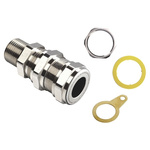 M20 Kopex-EX Nickel ATEX Brass Cable Gland Kit, 6 → 12mm Cable Dia.