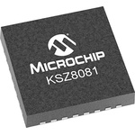 Microchip , 1-Channel Ethernet Transceiver 24-Pin QFN, KSZ8081RNDCA-TR