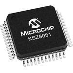 Microchip , 1-Channel Ethernet Transceiver 48-Pin LQFP, KSZ8081MLXIA