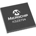 Microchip KSZ8794CNXIC, Ethernet Switch IC, 10/100Mbps, 3.3 V, 64-Pin QFN