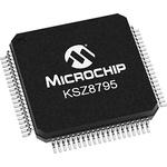 Microchip KSZ8795CLXCC, Ethernet Switch IC, 10/100Mbps, 3.3 V, 80-Pin LQFP
